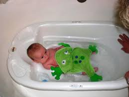 image of baby bath tub with shower