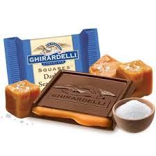 chocolates ghirardelli chocolate squares dark sea salt caramel