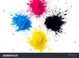 Cmyk Colour Toner Printer Cyan Magenta Stock Photo 680767489
