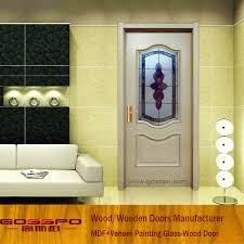 china white paint wooden door models with frosted glass gsp3 043 china glass wood door glass wooden door