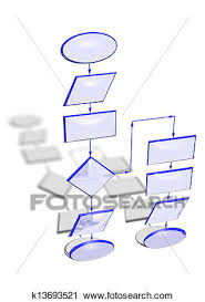 Empty Flow Chart Diagram Clip Art K13693521 Fotosearch