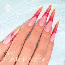 brilliant powder acrylics nails