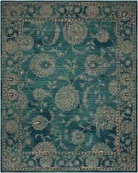 nourison 2020 nr202 teal area rug light teal accent rug