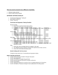 check list example work example testing checklist