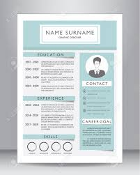 Job Resume Or Cv Template Layout Template In A4 Size Vector