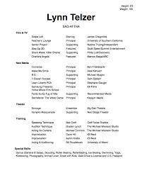 Lynn Telzer Acting Headshot Lynn Telzer Acting Resume