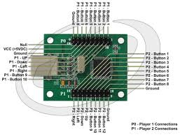 pc mame ps to arcade controller usb interface pcb pc ps3 to arcade controller usb interface pcb connections