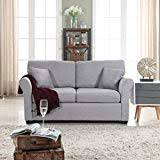 Light grey couch Sevina Tufted Classic And Traditional Ultra Comfortable Linen Fabric Loveseat Living Room Fabric Couch light Grey Caochangdico Amazoncom Grey Sofas Couches Living Room Furniture Home