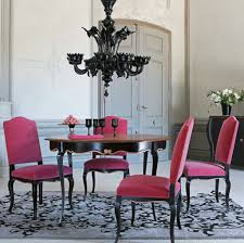 hit dining room furniture small dining room. Hot Pink Dining Chairs With Black Chandelier For Elegant Room Ideas Hit Furniture Small