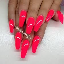Výsledek obrázku pro neon nails pink