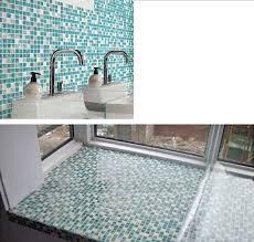 fabulous wall tile sheets le glass mosaic tile backsplash blue mosaic stone tiles stbl001