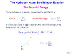 schrodinger equation gives the constant total energy equal to the sum of kinetic and