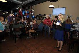 janelle horne speaks to her supporters gathered at the placerville pizza factory on election night democrat photo by krysten kellum