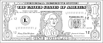 Dollar Bill Coloring Page For Kids Daisy Scouts Coloring Sheets