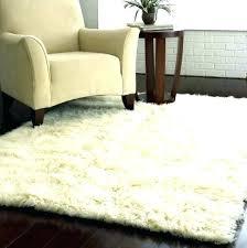 big white furry rug fuzzy fluffy modern large fur popular of area wi