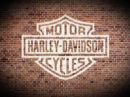 vintage harley davidson logo painted on