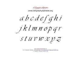 Lowercase Calligraphy Pdf Chart