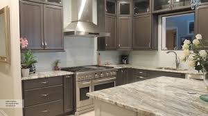 High Quality Gray Cabinets With An Off White Kitchen Island