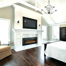 wall insert fireplace led mount electric