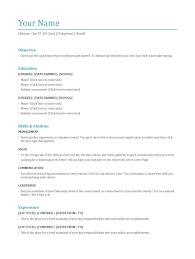 Resume Formats Resumes For Freshers Download Format Bcom