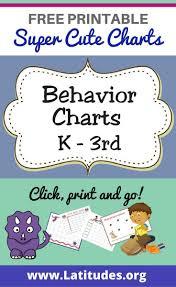 Free Printable Behavior Charts For Teachers Students