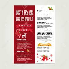 kids menu christmas vector template royalty cliparts kids menu christmas vector template stock vector 33308981