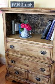Dresser Drawer Shelves Idea To Refinish A Dresser Remove Top Drawer And Stencil Or Paint