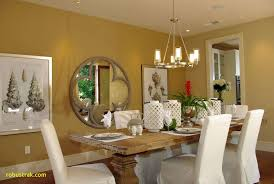 beautiful formal guest dining room decorating ideas with the captivating round mirror wall mounted decorative and