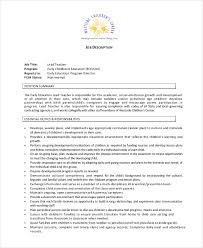 Unusual Job Description Teacher 12 Descriptions Free Sample Example
