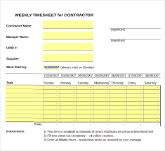 how to make a timesheet in excel 20 contractor timesheet templates free sample example format
