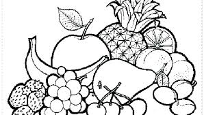 Printable Fruit And Vegetable Colouring Pages Fruit Coloring Pages
