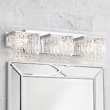 possini euro design crystal strand 25 3 4 wide bath light vanity lighting fixtures com