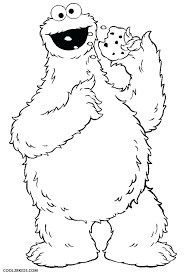 Cookie Coloring Pages Printable Cookie Coloring Page Cookie Monster