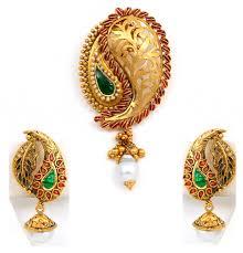 gold pendant set vaibhav abhushan