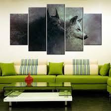 yin yang wolves 5 piece canvas wallart hd quality on yin yang canvas wall art with yin yang wolves 5 piece canvas wallart hd quality offersplace