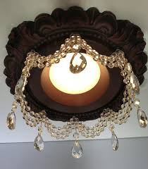 recessed light chandelier recessed chandelier 3 crystal strands tear drops led simple