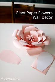 Perfect for bring spring inside any time of the year - giant paper flowers wall  decor