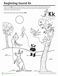 These phonics worksheets are simple and ideal for beginners. Beginning Sounds Coloring Sounds Like Kite Worksheet Education Com