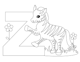 Small Picture Letter Z Coloring Page jacbme