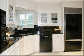 optimize minimalist concept with black kitchen design small stylish kitchen black appliances with corner lamp