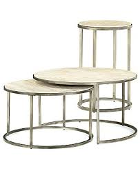 3 piece nesting coffee table set contemporary round end tables 2