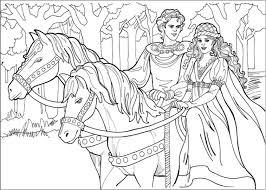 Coloriage Cheval De Princesse