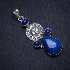 natural lapis lazuli handmade unique 925 sterling silver pendant 2 x0426 uk 2019 from lbdfashion uk 61 67 dhgate uk