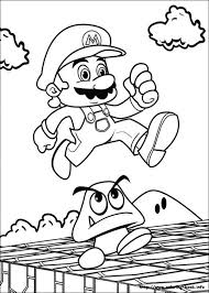Small Picture Mario Bros coloring picture