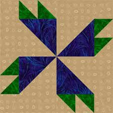 Use a Multicolored Fabric to Inspire a Quilt Design   Pinwheel ... & Try One of My Free Pinwheel Quilt Block Patterns: Rosebud Quilt Block  Pattern Adamdwight.com