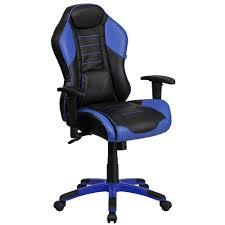 blue high back chair