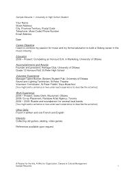 Resume Template Objective For High School Graduate Within Student