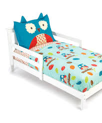 all gone zoo four piece owl toddler bedding set