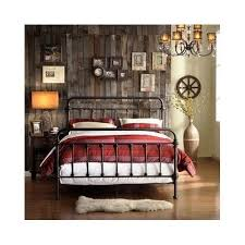 Metal Headboard And Footboard Wrought Iron Bed Frame Headboard Footboard  Antique Bronze Metal Set