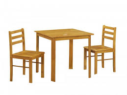 Natural Polished Pine Wood Dining Table With Square Legs And Apron
